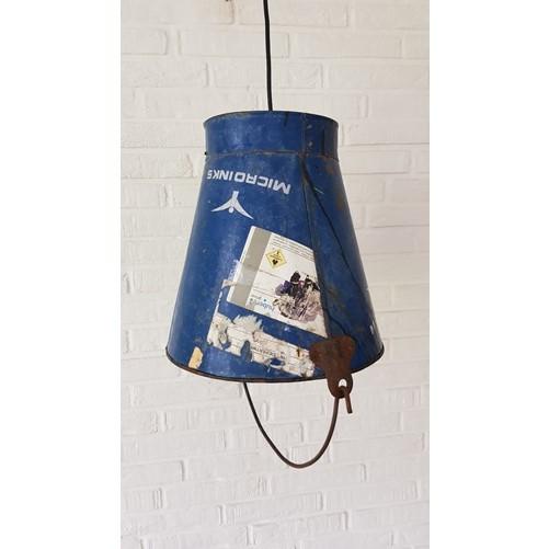 Bucket / emmer hanglamp (blauw)