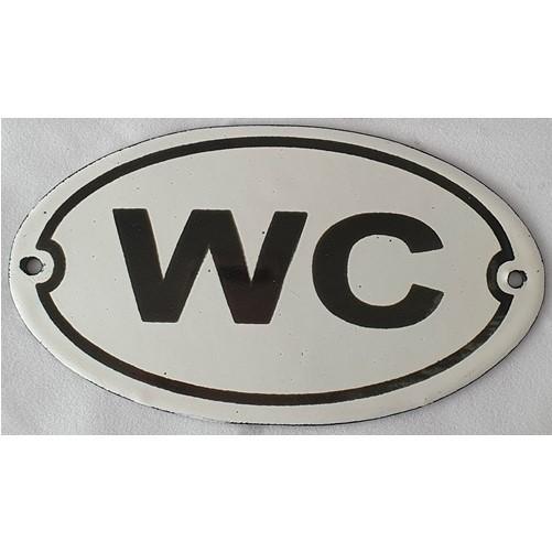 Bordje emaille '' wc '' voor op deur of muur