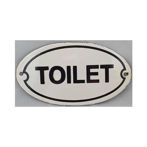 Bordje emaille '' Toilet '' voor op deur of muur