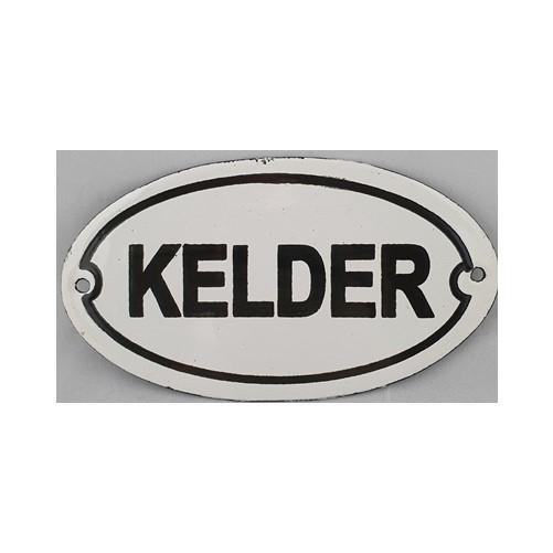 Bordje emaille '' Kelder'' voor op deur of muur