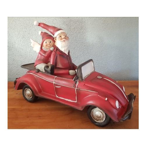 Kerstman in Kever Cabrio