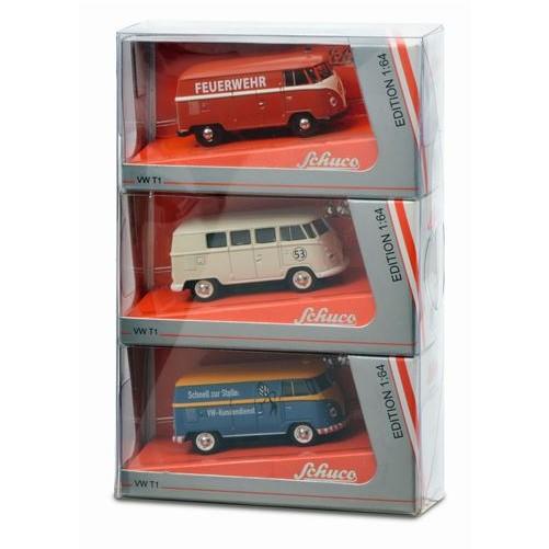 Set van 3 Volkswagen T1 Panel Van's 1:64