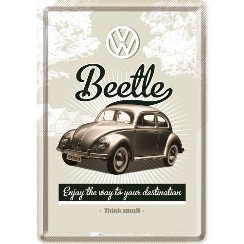 Metalen wenskaart  VW Beetle