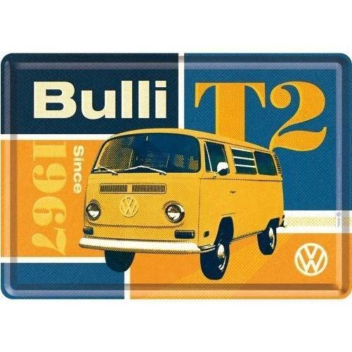 Metalen wenskaart  Volkswagen T2