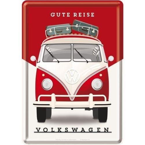 Metalen wenskaart  Volkswagen T1 Gute Reise