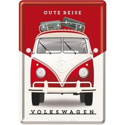 Metalen wenskaart  Volkswagen T1 the Original ride