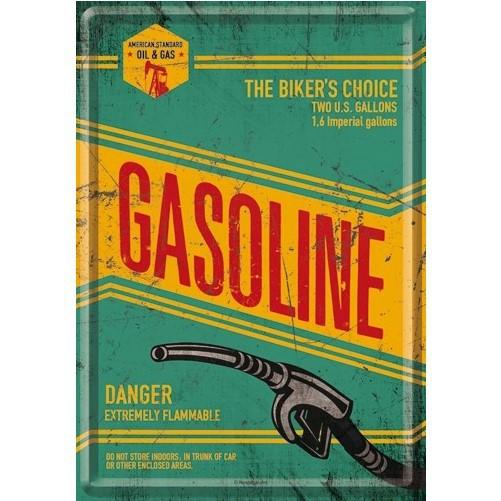 Metalen wenskaart  Gasoline