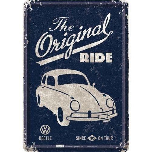 Metalen wenskaart  Volkswagen Kever the Original ride