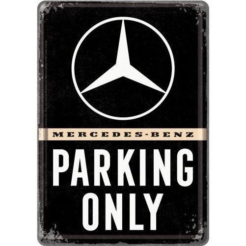 Metalen wenskaart  Mercedes