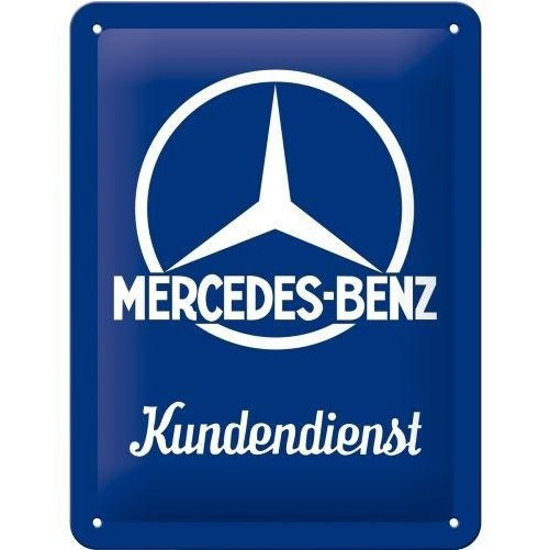 Muurplaat Mercedes Kundendienst