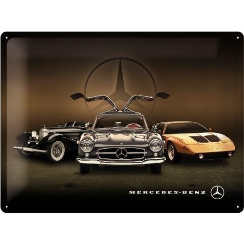 Muurplaat 3x Mercedes