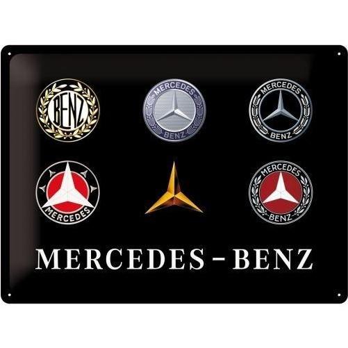 Muurplaat Mercedes Logo's