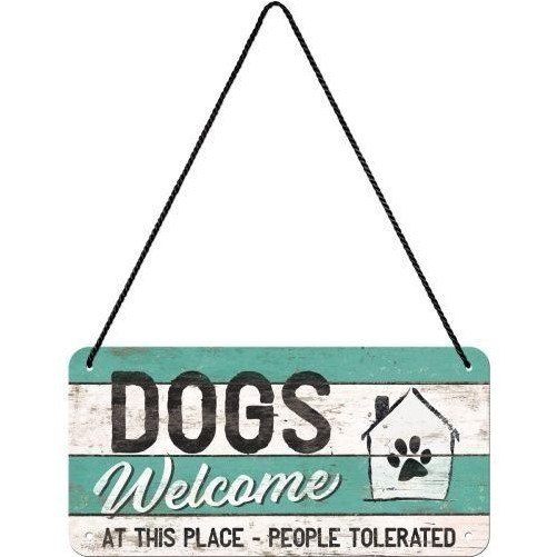 Hanging sign  Dogs Welcome