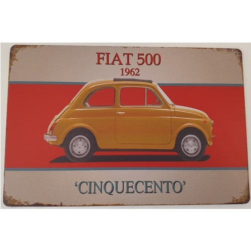 Plaat Fiat 500