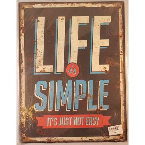 Muurplaat Life is simple