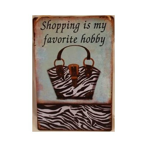 Muurplaat Love Shopping