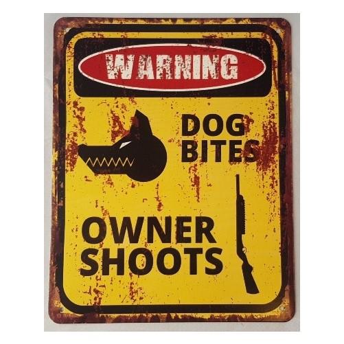 Muurplaat Dog bites