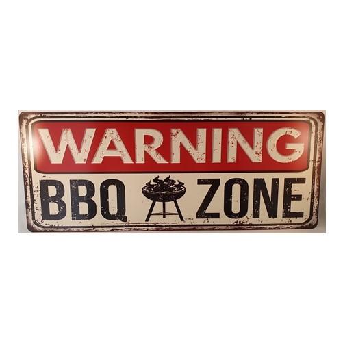 Plaat BBQ zone