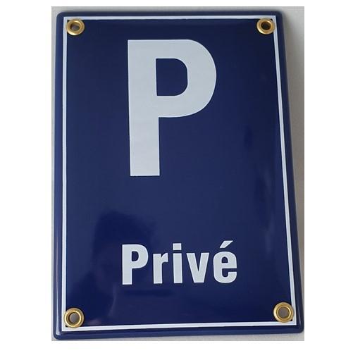 Bordje emaille '' Privé '' voor op deur of muur