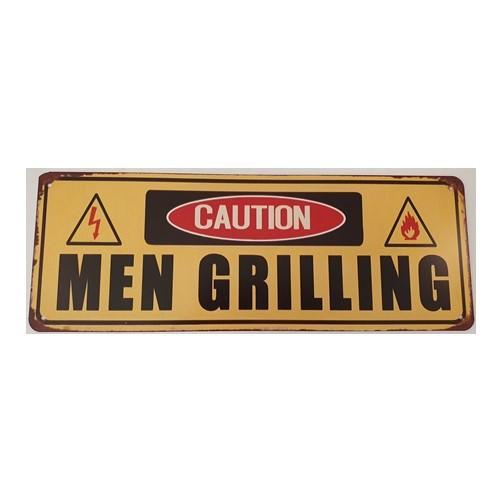 Plaat Men grilling