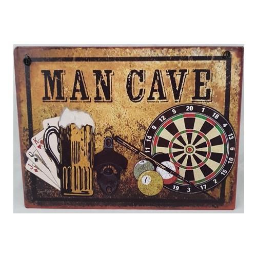 Muurplaat Man cave