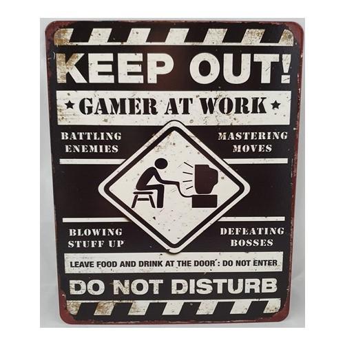 Muurplaat  Keep out Gamer