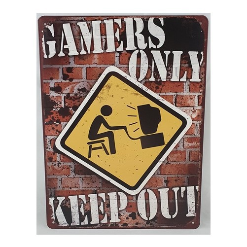 Muurplaat  Gamers only