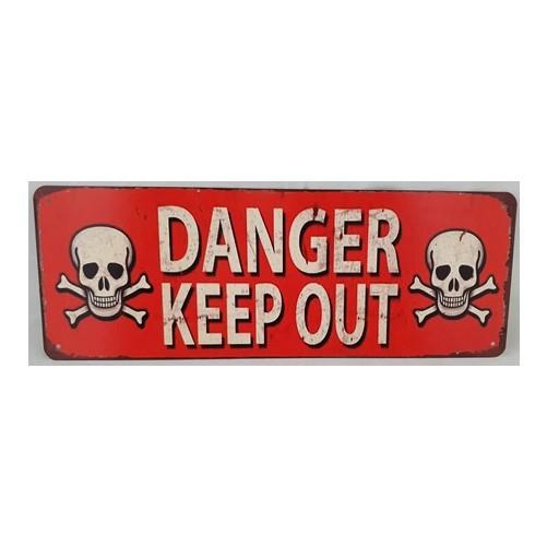 Muurplaat  Danger