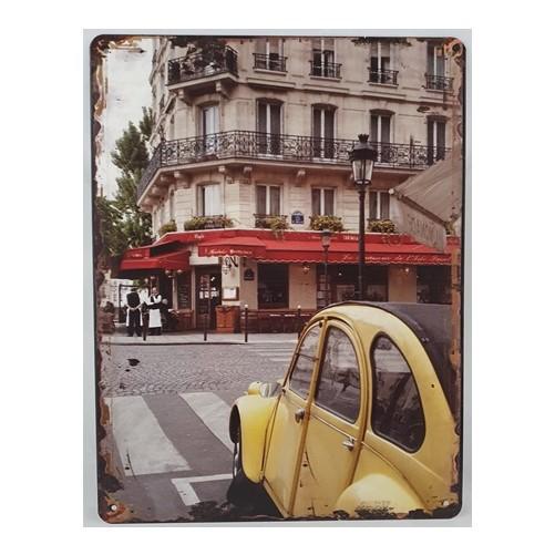 Muurplaat  Straat aanzicht Parijs