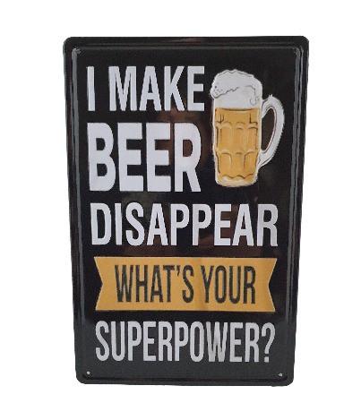 Muurplaat Beer disappear
