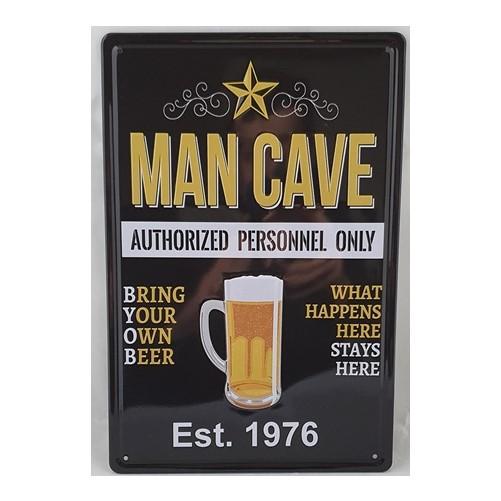 Muurplaat Man cave 1976
